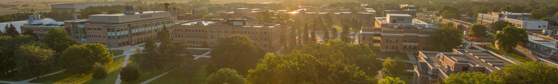 aerial view of South Dakota State University campus